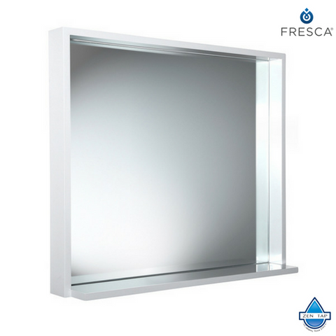 "Fresca Allier 30"" Mirror with Shelf"