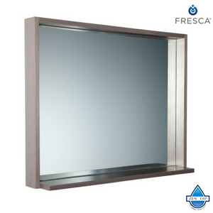 "Fresca Allier 36"" Mirror with Shelf"