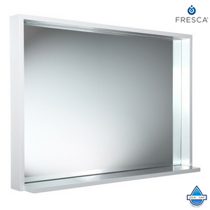 "Fresca Allier 40"" Mirror with Shelf"