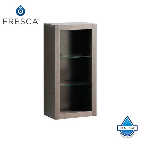 Fresca Allier Bathroom Linen Side Cabinet w/ 2 Glass Shelves