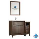 "Fresca Cambridge 42"" Antique Coffee Traditional Bathroom Vanity w/ Mirror"