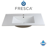 "Fresca Allier 24"", 30"", 36"", and 40"" White Integrated Sink / Countertop"