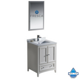 "Fresca Oxford 24"" Antique White Traditional Bathroom Vanity"
