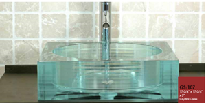 Buy Online Cantrio Koncepts GS-107 Layered and Fused Tempered Glass Vessel sink - Zen Tap Sinks