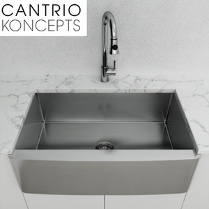 Cantrio Koncepts KSS-001 18 Gauge Stainless Steel Apron Front Sink