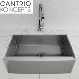 Buy Cantrio Koncepts KSS-001 18 Gauge Stainless Steel Apron Front Sink