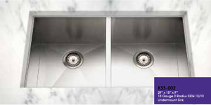 Buy Cantrio Koncepts KSS-002 Undermount Two bowl Stainless steel Kitchen Sink - Zen Tap Sinks