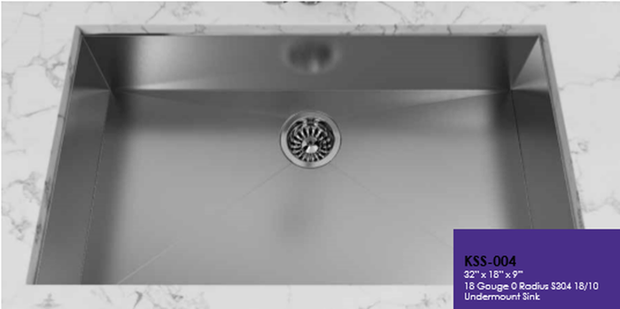 Buy Cantrio Koncepts KSS-004 Undermount Kitchen Sink made of Stainless Steel - Zen Tap Sinks
