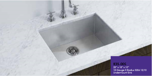 Buy Online Cantrio Koncepts KSS-005 One Bowl Undermount Stainless steel Kitchen Sink - Zen Tap Sinks