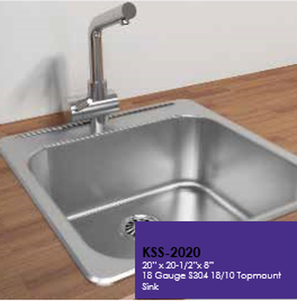 Buy Cantrio Koncepts Single Basin Drop In Kitchen Sink - Zen Tap Sinks