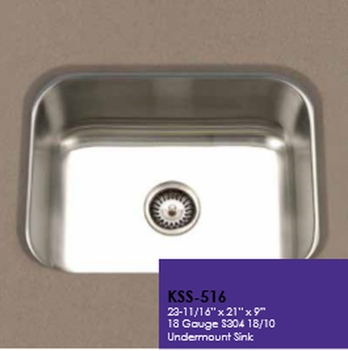 Buy Cantrio Koncepts KSS-516 One Bowl Undermont Kitchen Sink - Stainless Steel - Zen Tap Sinks