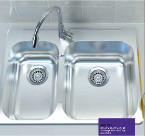 Buy Cantrio Koncepts KSS-521 304 One and A Half Basin 19 gauge Drop-In Sink - Zen Tap Sinks