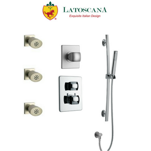 "Latoscana Lady thermostatic valve with 3/4"" ceramic disk volume control"