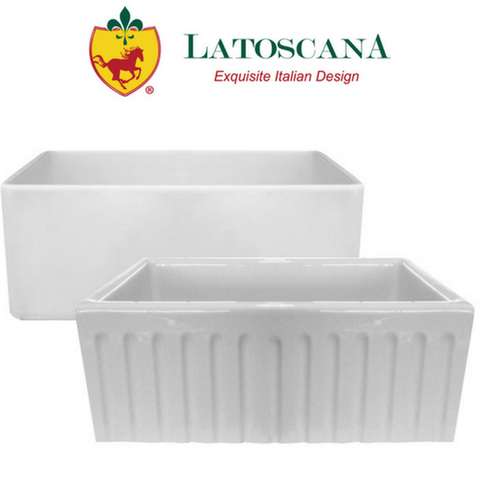"Latoscana 18"" Reversible Fireclay Farmhouse Sink"