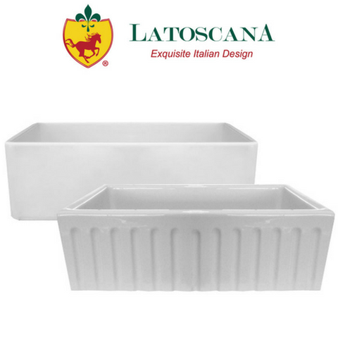 "Latoscana 30"" Reversible Fireclay Farmhouse Sink"