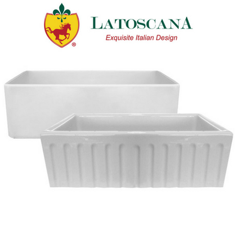"Latoscana 33"" Reversible Fireclay Farmhouse Sink"