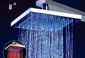 "Alfi Brand LED5001 8"" Square Multi Color LED Rain Shower Head - Zen Tap Sinks - 1"