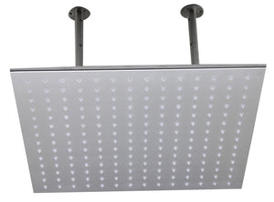 "Alfi Brand LED 5014 20"" Square Solid Stainless Steel Multi Color LED Rain Shower Head"