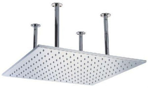 "Alfi Brand LED 5014 20"" Square Solid Stainless Steel Multi Color LED Rain Shower Head - Zen Tap Sinks"