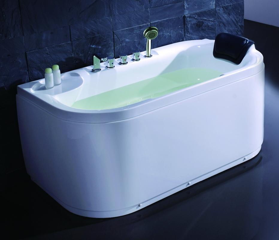EAGO LK1103 White 5\' Acrylic Soaking Tub with FREE Fixtures With ...