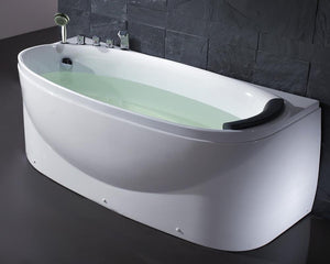 EAGO LK1104 Acrylic White 6' Soaking Tub with Fixtures