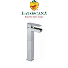 Latoscana Dax waterfall single control vessel in a Chrome finish