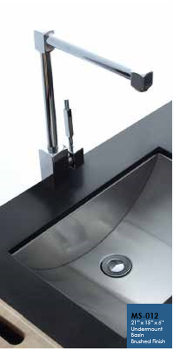 Buy Cantrio Koncepts MS-012 Stainless Steel Undermount Sink with Brushed finish - Zen Tap Sinks
