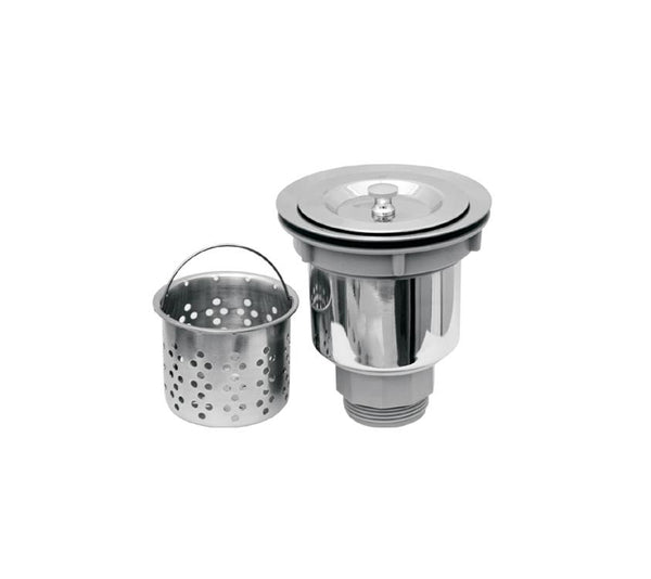 Whitehaus NRNW35A 3 1/2'' Stainless Steel Kitchen Sink Basket Strainer