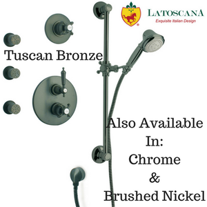 LaToscana Ornellaia Option 5 Thermostatic Valve Shower System Option