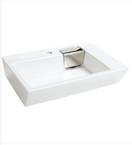 Buy Cantrio Koncepts PS-505 Ceramic Sink with Deck Mount Hole and Overflow - Zen Tap Sinks