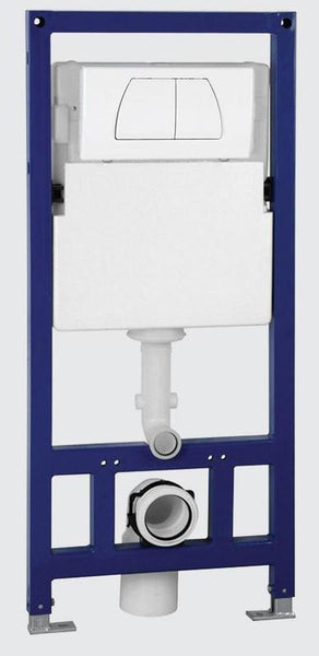 BUY EAGO PSF332 Concealed Dual Flush In Wall Tank Carrier for Wall Mounted Toilets - Zen Tap Sinks - 1
