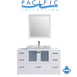 "54"" Hermosa Espresso Single Modern Bathroom Vanity with 2 Side Cabinets and Integrated Sink"