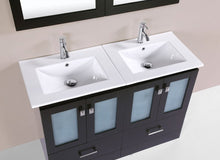 "48"" Hermosa Espresso Single Modern Bathroom Vanity with Integrated Sink"