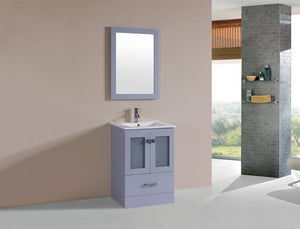 "24"" Hermosa Espresso Single Modern Bathroom Vanity with Integrated Sink"