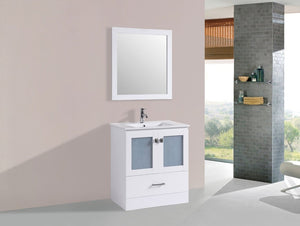 "30"" Hermosa Espresso Single Modern Bathroom Vanity with Integrated Sink"