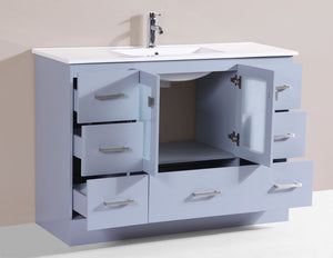 "96"" Hermosa Espresso Double Modern Bathroom Vanity with Integrated Sinks"
