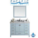 "48"" Malibu Gray Single Modern Bathroom Vanity with White Marble Top and Undermount Sink"