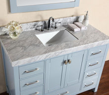"60"" Malibu White Single Modern Bathroom Vanity with White Marble Top and Undermount Sink"