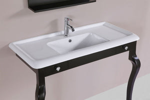 "40"" Marina Espresso Single Traditional ADA Bathroom Vanity with Integrated Sink"