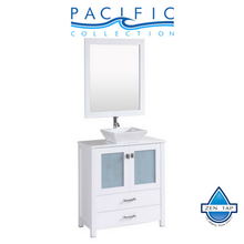 "30"" Newport Espresso Single Modern Bathroom Vanity with Vessel Sink"