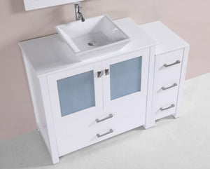 "48"" Newport Espresso Single Modern Bathroom Vanity with Side Cabinet and Vessel Sink"
