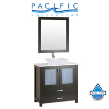 "36"" Newport Espresso Single Modern Bathroom Vanity with Vessel Sink"