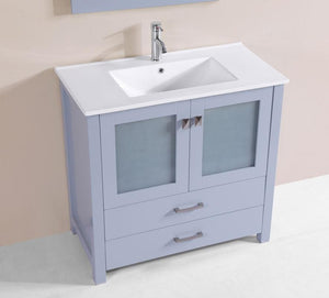 "36"" Newport Espresso Single Modern Bathroom Vanity with Integrated Sink"
