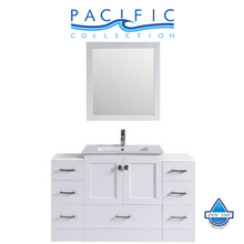 "54"" Redondo Espresso Single Modern Bathroom Vanity with 2 Side Cabinets and Integrated Sink"