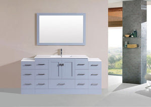 "72"" Redondo Espresso Single Modern Bathroom Vanity with 2 Side Cabinets and Integrated Sink"
