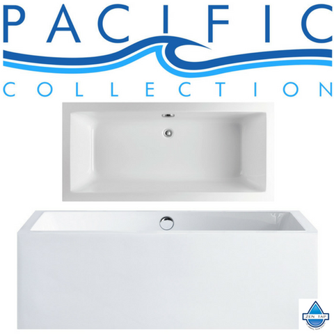 "Caesar 60"" x 31"" White Rectangle Soaking Bathtub by Pacific Collection"