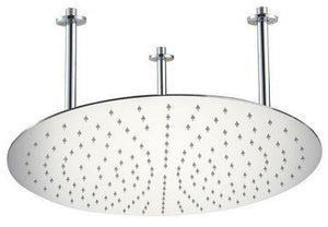 "Alfi Brand RAIN20R 20"" Round Solid Stainless Steel Ultra Thin Rain Shower Head - Zen Tap Sinks"
