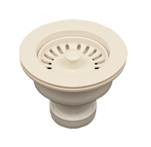 Whitehaus RNW50L 3 1/2 Inch Basket Strainer For Deep Fireclay Sinks