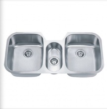 Buy Triple Bowl Stainless Steel Kitchen Sink - Zen Tap Sinks - 1