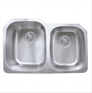 Buy Double Bowl Kitchen Sink (Offset) - Zen Tap Sinks - 1